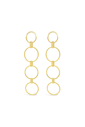 Yellow Gold Plated Hoyt Earrings