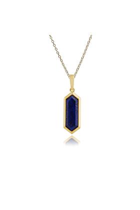 Gemondo Lapis Lazuli Hexagon Prism Pendant