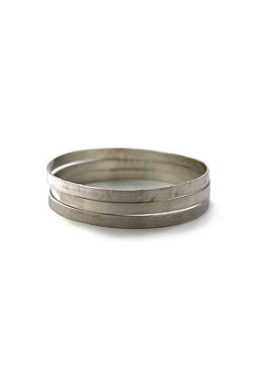 Sterling Silver Elegant Bangle Set