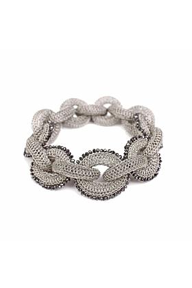 Goddess Black Link Bracelet