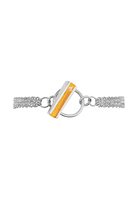 Silver Hop Bracelet With Marmalade Resin