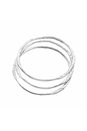 Sterling Silver Endless Bangle Set
