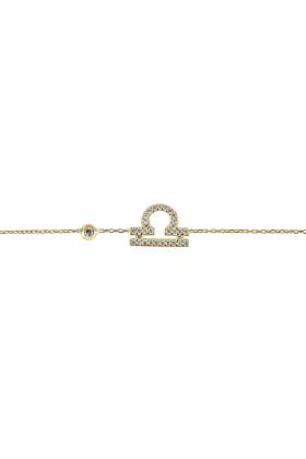 Libra Zodiac Bracelet Gold