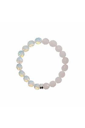 Sterling Silver Orbis Opal & Rose Quartz Bracelet