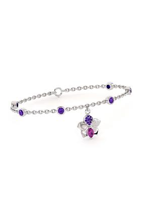Tourmaline & Tanzanite Orchid Bracelet