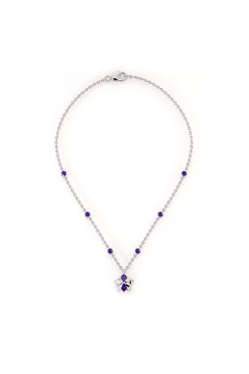 Tourmaline & Tanzanite Orchid Necklace