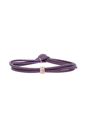 Leather Viola Mini Bracelet With Rose Gold