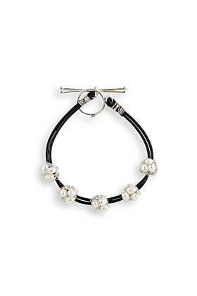 Leather & Sterling Silver Nest Bracelet