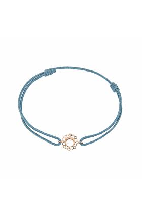 Rose Gold & Thread Vishuddha Bracelet | Tiny-Om