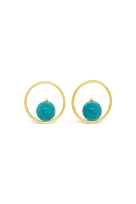 Yellow Gold Plated Adams Earrings