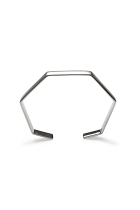 Sterling Silver Small Hexagon Bangle Bracelet