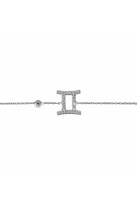 Gemini Zodiac Bracelet Silver