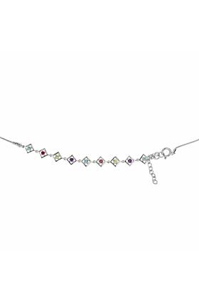 Sterling Silver Blue Topaz Charming Self-love Bracelet