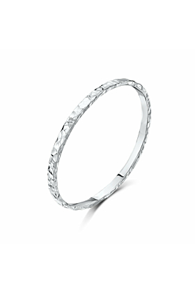 Sterling Silver Beaten Bangle | Becky Rowe