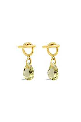 Yellow Gold Plated Drew Earrings