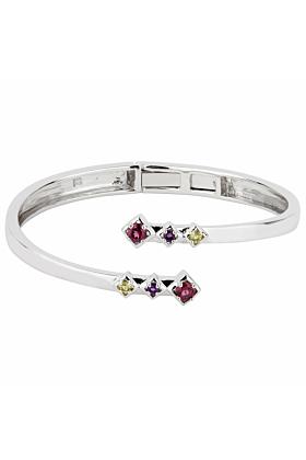 Sterling Silver Rhodolite Charming Visionary Bracelet