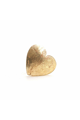 14kt Gold Heart Single Earring