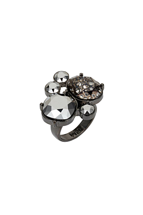 Gunmetal Kate Cocktail Ring