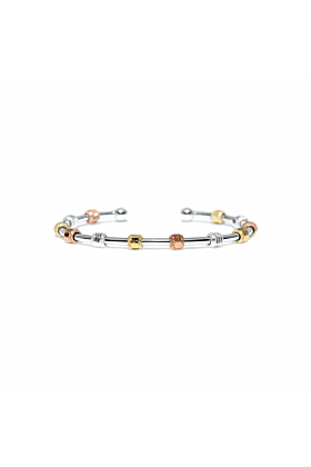 Galaxy Silver Tri-Colour Bracelet