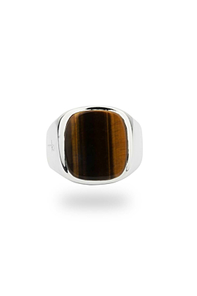 Jamestown Tiger Eye Silver Ring