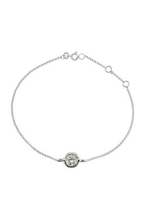 Luxury White Gold Single Diamond Raindrop Bracelet