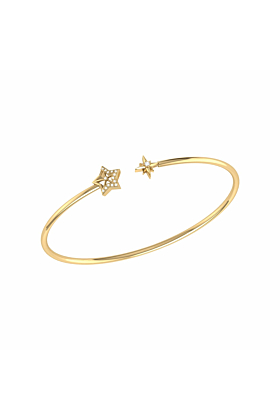 14kt Yellow Gold Plated Starry Night Cuff
