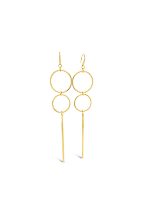 Yellow Gold Plated Holt Earrings
