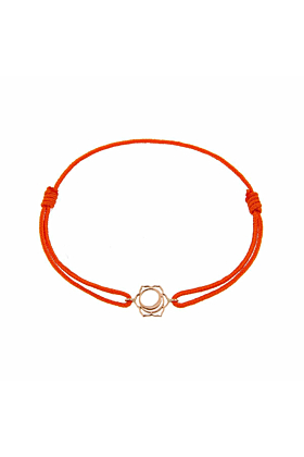 Rose Gold & Thread Svadisthana Bracelet | Tiny-Om