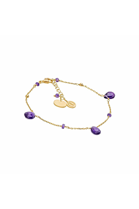 Cari Amethyst Yellow Gold Bracelet