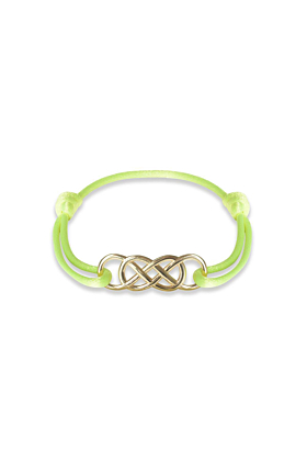Yellow Gold Infinity Ibiza Bracelet With Yellow Neon Ribbon | INFINITY by Victoria