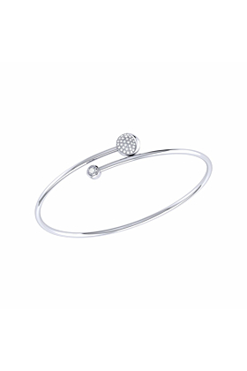 Moon-Crossed Lovers Bangle in Sterling Silver