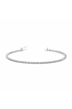 Diamond Line Bracelet In 18ct White Gold