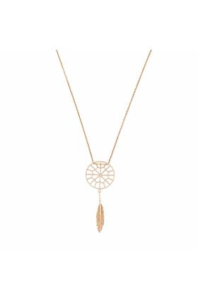 Rose Gold Petite Sweet Dreamcatcher Necklace | Tiny-Om