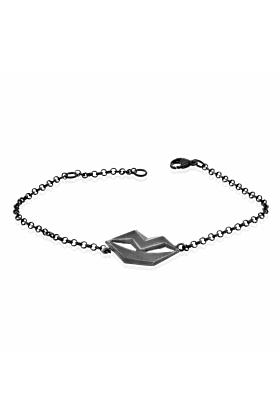 Unspoken Oxidised Silver Bracelet