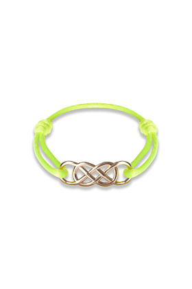 Rose Gold Infinity Ibiza Bracelet With Yellow Neon Ribbon | INFINITY by Victoria