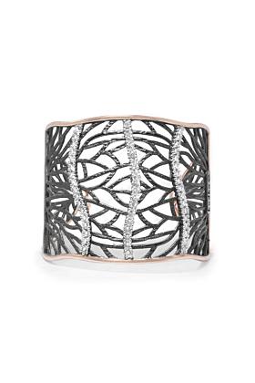 Rose Gold & Rhodium Plated WOODS Bracelet