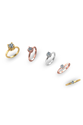 Gold SEQUENCE Crystals Ring