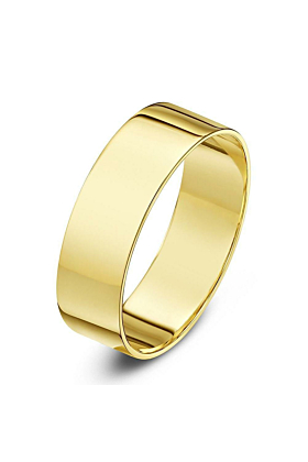 9kt Yellow Gold Flat Wedding Ring