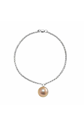 Sterling Silver Alba Pink & Gold Pearl Bracelet