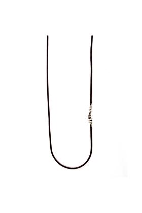 Rhodium Chattering Skull Necklace