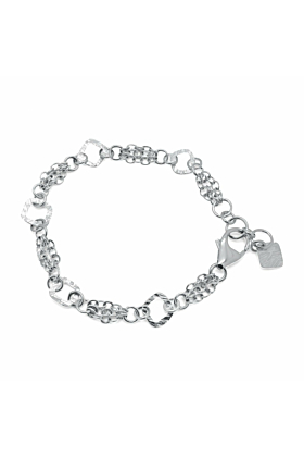 Sterling Silver Verity Square Chain Bracelet