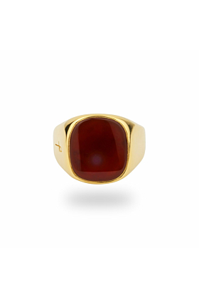 Jamestown Red Carnelian Agate Gold Ring