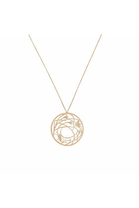 Rose Gold Mother Earth Necklace | Tiny-Om