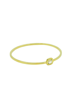 Gold and Quartz Checkerboard Bangle