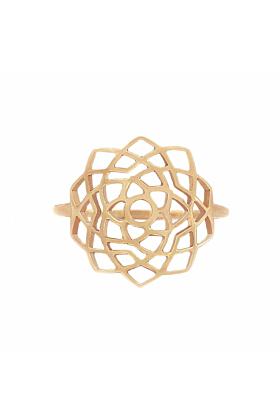 Rose Gold Sahasrara Ring | Tiny-Om