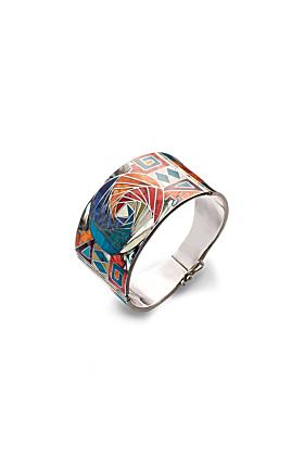 Sterling Silver Inca Infinity Spiral Bracelet