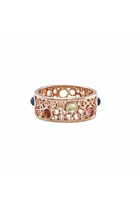 Pimlico Bubble Rose Gold Multi Gem Ring