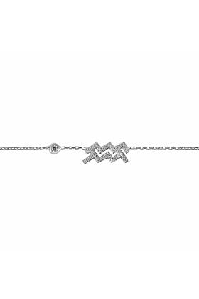 Aquarius Zodiac Bracelet Silver