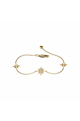 14kt Yellow Gold Plated North Star Trio Bracelet