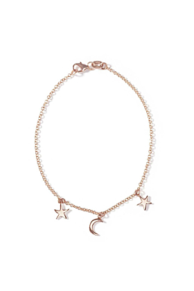 9kt Rose Gold Starry Night Bracelet